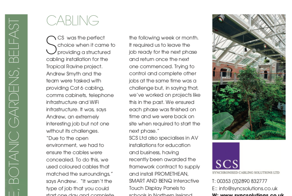 SCS Case Study features in Electrical Magazine